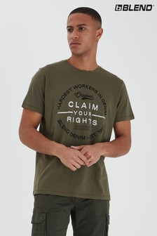 Blend Chest Print T-Shirt