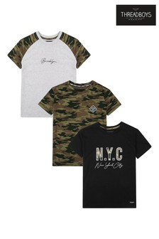 3 kamuflażowe koszulkiThreadboys
