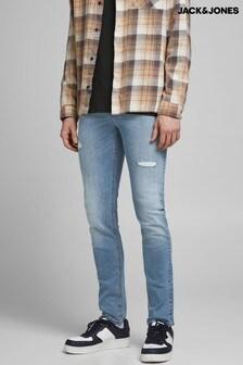 جينز سكيني شكل مستهلكبأجزاء ممزقةLiam منJack & Jones