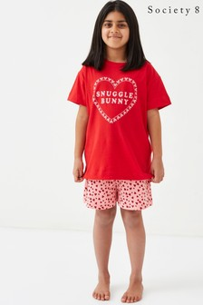 Society 8 Girls Snuggle Bunny Short Pyjama Set