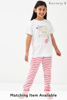 Society 8 Girls Matching Easter Bunny Pyjama Set