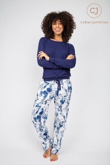 Cyberjammies Ellie Knitted Slouch Top and Leopard Print Pant