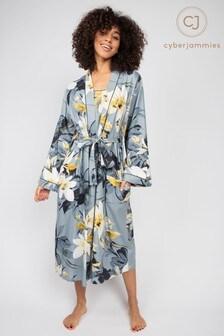 Cyberjammies Rachel Abstract Floral Printed Long Dressing Gown