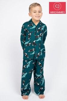 Пижама с принтом китов Cyberjammies William
