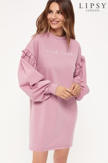 Lipsy Embroidered Sweater Dress