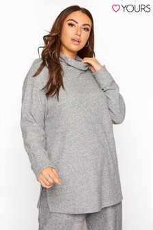 Yours Roll Neck Soft Rib Top