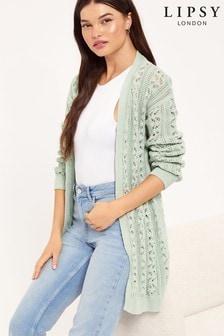 Lipsy Cotton Knit Pointelle Cardigan