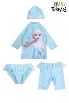 Brand Threads Girls Frozen 4 Piece Set