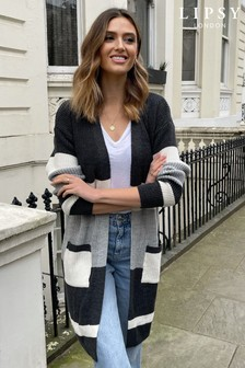 Lipsy Stripe Colourblock Knitted Cardigan