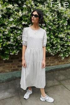 Rae Jade Pleat Sleeve Tiered Midi Dress