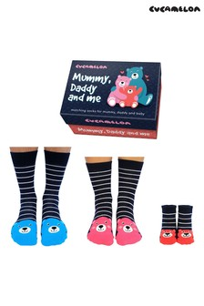 Cucamelon Mummy, Daddy and Me Pack of 3 Socks