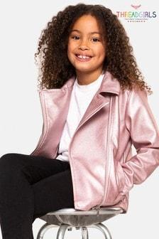 Куртка из искусственной кожи с эффектом металлик Threadgirls Hatty