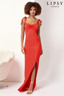 Lipsy Tie Strap Maxi Dress