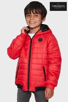 Дутая куртка с капюшономThreadboys Cole