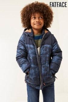 Синя куртка с отстегивающимися рукавами на молнии FatFace Ethan