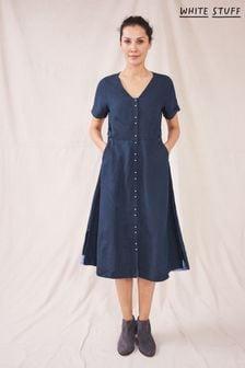 White Stuff Ivy Linen Midi Dress (T01304) | $103