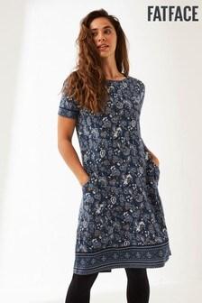 Синее трикотажное платье FatFace Simone Festival