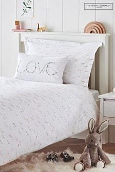 The White Company White Wild Horses Bed Linen Set