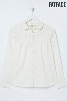 חולצה בגוון טבעי מכותנה מחוררת דגם Allyra של FatFace