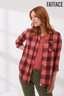חולצת משבצות דגם Olivia בצבע סגול של FatFace