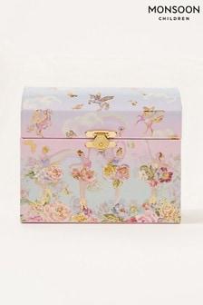 Розовая шкатулка для украшений с рисунком балерин Monsoon