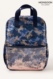 Monsoon Blue Unicorn Shaker Backpack