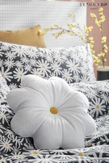 Skinnydip White Daisy Cushion
