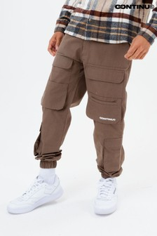 Continu8 Unisex Brown Cargo Pants