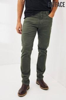 FatFace Green Ashton Slim 5 Pocket Trousers