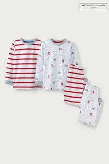 The White Company London Print Pyjamas 2 Pack
