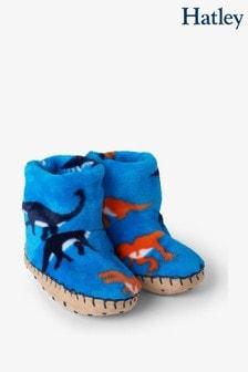 Hatley Wild Dinos Fleece Slippers