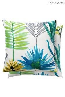 Harlequin Teal Kinina Outdoor Cushion