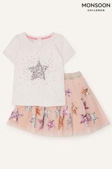Топ и юбка со звездами Monsoon