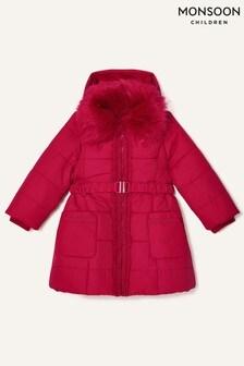 Дутое пальто с капюшоном Monsoon