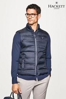 Hackett Mens Blue Outerwear LW Gilet