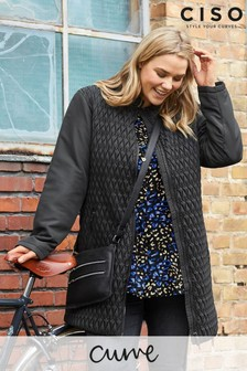 CISO Black Quilted Coat