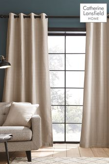 Catherine Lansfield Natural Curtains