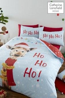 Catherine Lansfield Christmas Giraffe Duvet Cover And Pillowcase Set (T09991) | $28 - $41