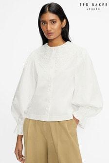 חולצה עם צווארון תחרה של Ted Baker דגם Idalia