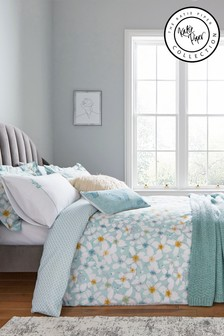 Katie Piper Green Restore Petal Duvet Cover and Pillowcase Set