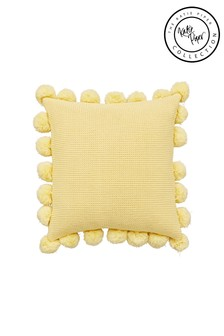 Katie Piper Yellow Reset Pom Pom Cushion