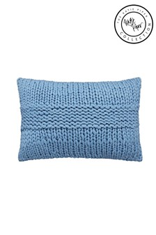 Katie Piper Blue Be Still Chunky Cushion