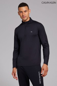Calvin Klein Mens Black Long Sleeve Top