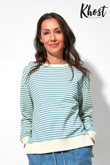 Khost Stripe Split Hem Sweatshirt