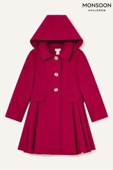 Красное пальто с капюшоном Monsoon Back To School