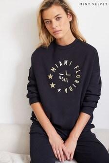 Mint Velvet Blue City Jersey Sweatshirt