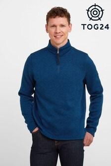 Tog24 Blue Pearson Mens Knitlook Fleece