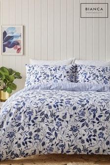 Bianca Blue Brianna Duvet Cover and Pillowcase Set