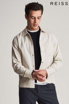 Reiss Nico Cotton Press Stud Overshirt