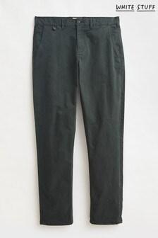 White Stuff Mens Green Sutton Organic Chino Trousers